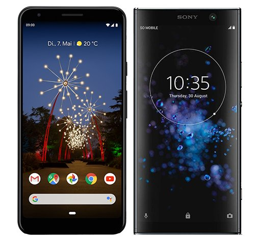 Smartphone Comparison: Google pixel 3a xl vs Sony xperia xa2 plus