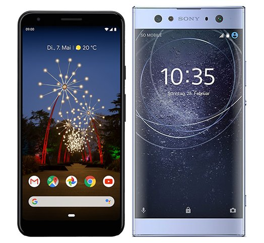 Smartphone Comparison: Google pixel 3a xl vs Sony xperia xa2 ultra