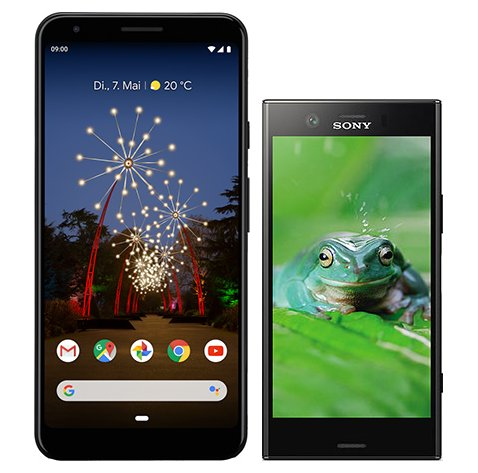 Smartphonevergleich: Google pixel 3a xl oder Sony xperia xz1 compact