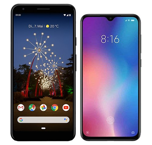 Smartphone Comparison: Google pixel 3a xl vs Xiaomi mi 9 se