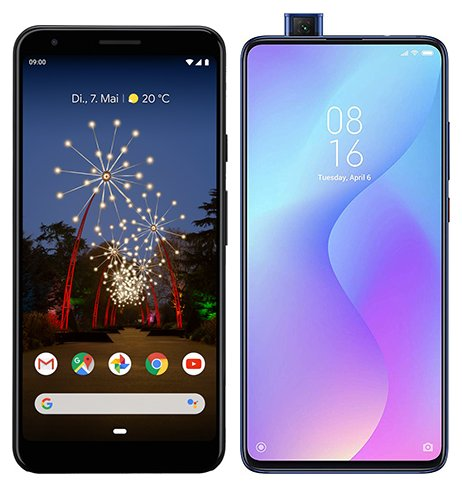 Smartphone Comparison: Google pixel 3a xl vs Xiaomi mi 9t