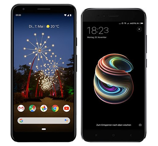 Smartphone Comparison: Google pixel 3a xl vs Xiaomi mi a1
