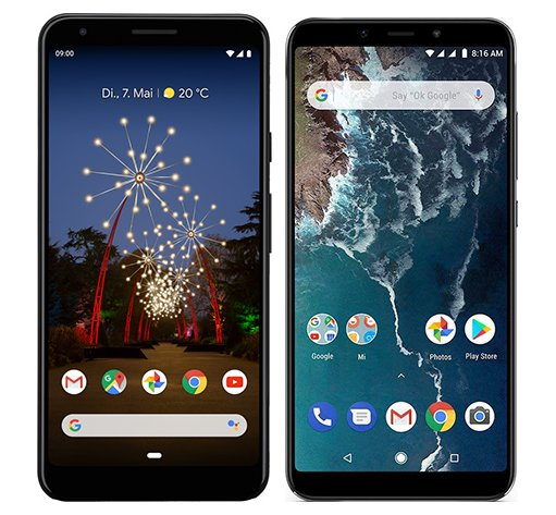 Smartphone Comparison: Google pixel 3a xl vs Xiaomi mi a2
