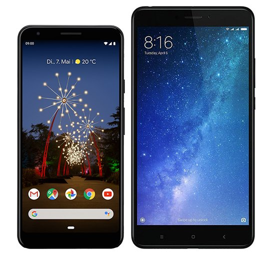 Smartphone Comparison: Google pixel 3a xl vs Xiaomi mi max 2