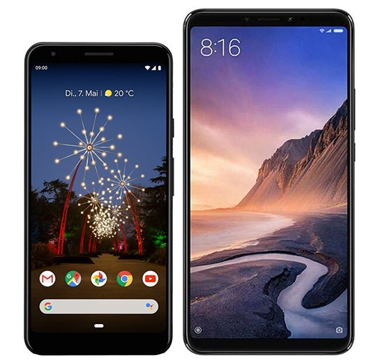 Smartphone Comparison: Google pixel 3a xl vs Xiaomi mi max 3