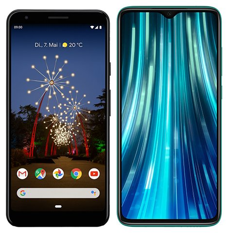 Smartphone Comparison: Google pixel 3a xl vs Xiaomi redmi note 8 pro