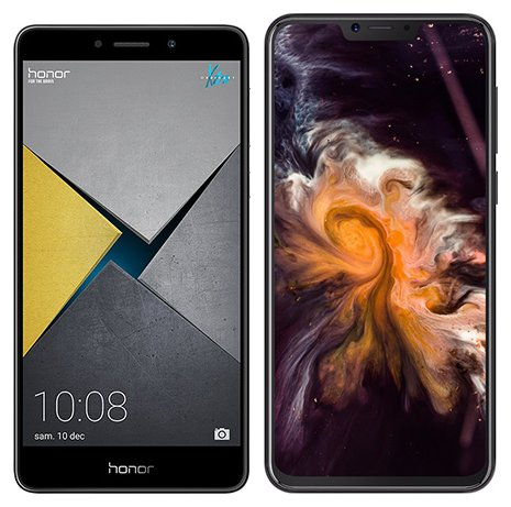 Smartphone Comparison: Honor 6x pro vs Cubot p20
