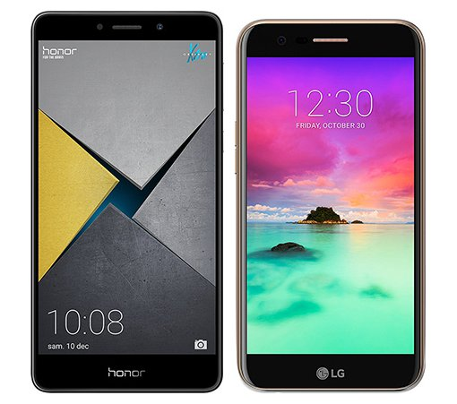 Smartphone Comparison: Honor 6x pro vs Lg k10 2017