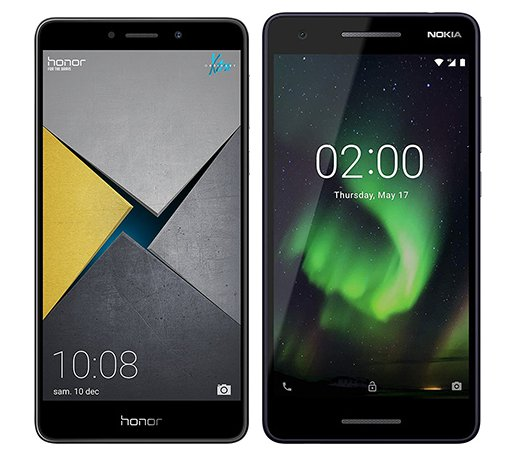 Smartphone Comparison: Honor 6x pro vs Nokia 2 1 2018
