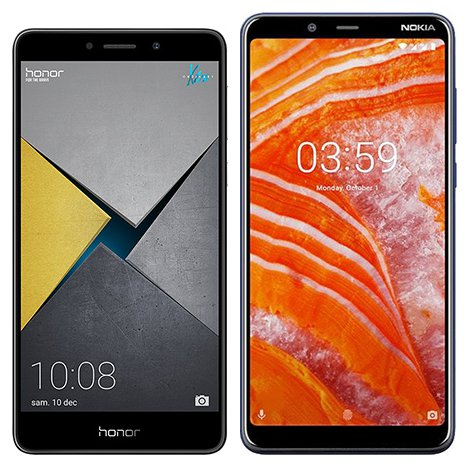 Smartphone Comparison: Honor 6x pro vs Nokia 3 1 plus