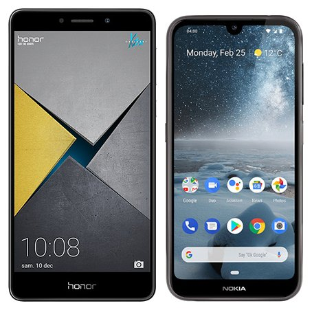 Smartphone Comparison: Honor 6x pro vs Nokia 4 2