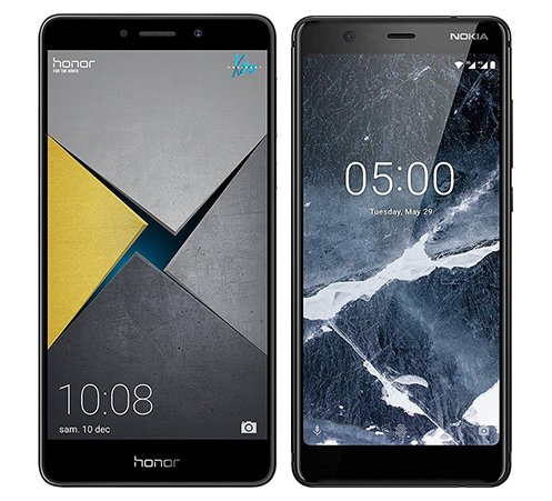 Smartphone Comparison: Honor 6x pro vs Nokia 5 1 2018