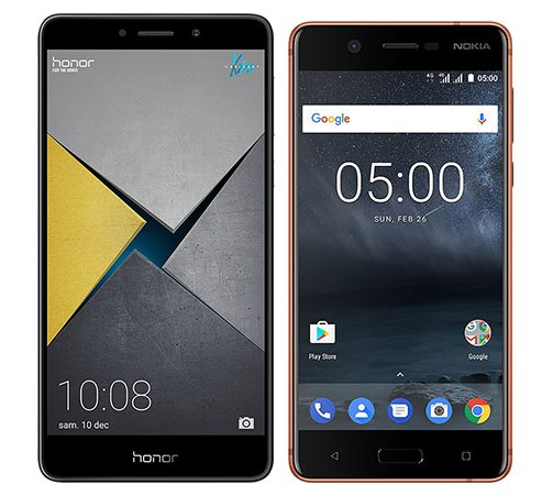 Smartphone Comparison: Honor 6x pro vs Nokia 5