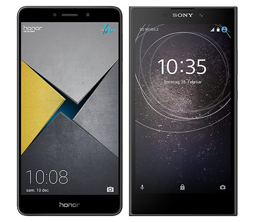 Smartphone Comparison: Honor 6x pro vs Sony xperia l2