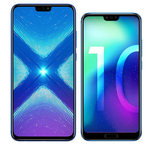 Smartphone Comparison: Honor 8x vs Honor 10