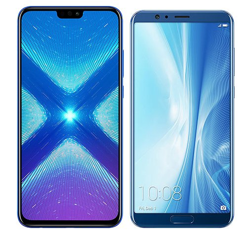 Smartphone Comparison: Honor 8x vs Honor view 10
