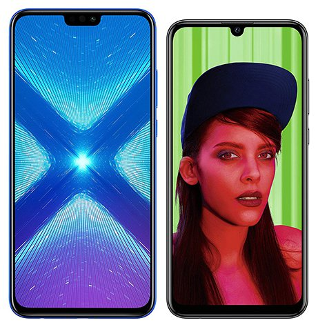 Smartphone Comparison: Honor 8x vs Huawei p smart plus 2019