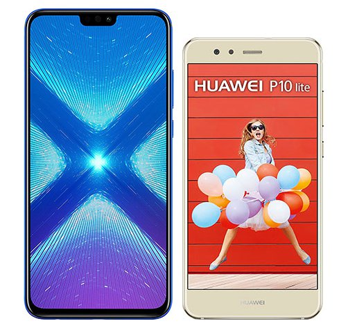 Smartphone Comparison: Honor 8x vs Huawei p10 lite