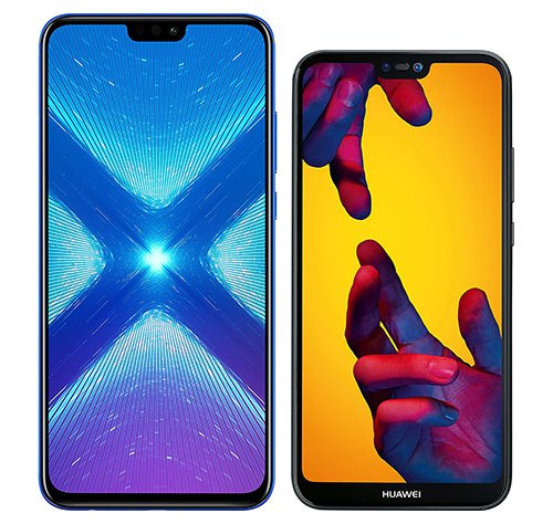 Smartphone Comparison: Honor 8x vs Huawei p20 lite
