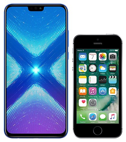 Smartphonevergleich: Honor 8x oder Iphone se