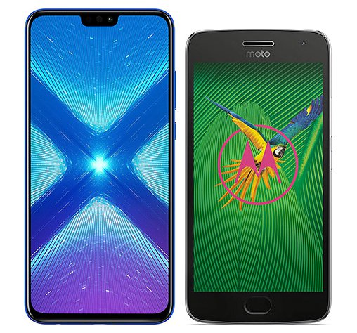 Smartphone Comparison: Honor 8x vs Motorola moto g5 plus