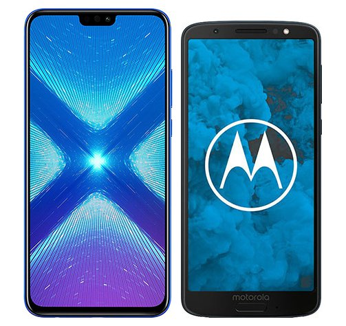 Smartphone Comparison: Honor 8x vs Motorola moto g6