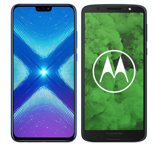 Smartphone Comparison: Honor 8x vs Motorola moto g6 plus