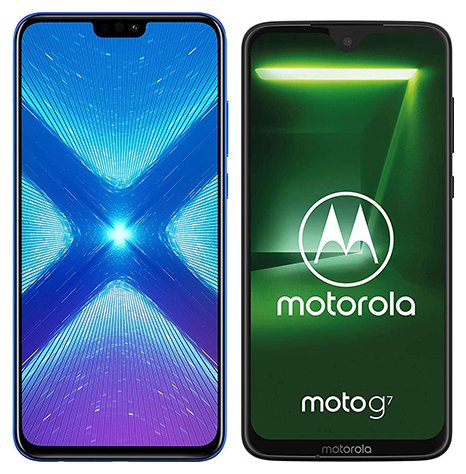 Smartphone Comparison: Honor 8x vs Motorola moto g7