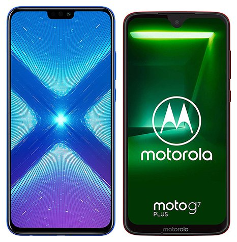 Smartphone Comparison: Honor 8x vs Motorola moto g7 plus