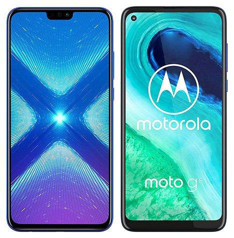 Smartphone Comparison: Honor 8x vs Motorola moto g8
