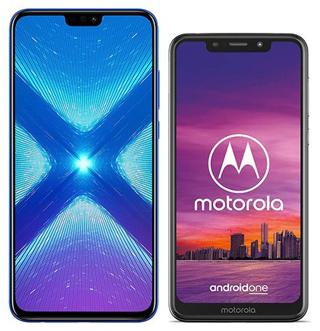 Smartphone Comparison: Honor 8x vs Motorola one