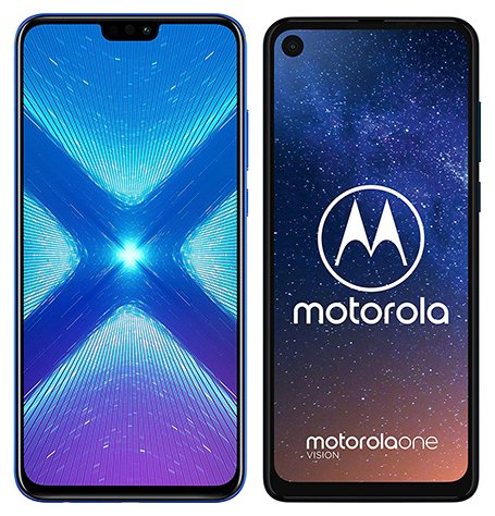 Smartphone Comparison: Honor 8x vs Motorola one vision