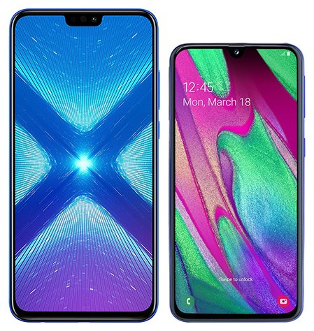 Smartphone Comparison: Honor 8x vs Samsung galaxy a40