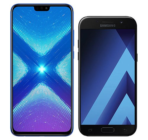 Smartphone Comparison: Honor 8x vs Samsung galaxy a5 2017