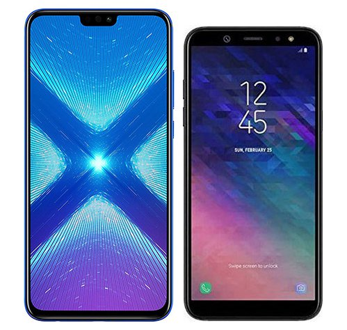Smartphone Comparison: Honor 8x vs Samsung galaxy a6