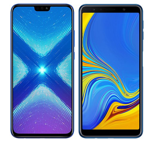 Smartphone Comparison: Honor 8x vs Samsung galaxy a7 2018