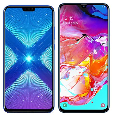 Smartphone Comparison: Honor 8x vs Samsung galaxy a70