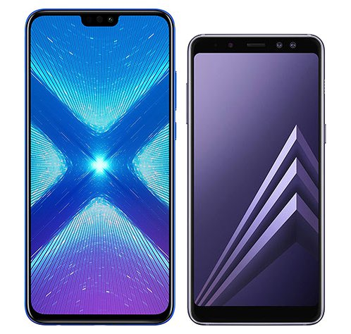 Smartphone Comparison: Honor 8x vs Samsung galaxy a8