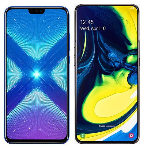 Smartphone Comparison: Honor 8x vs Samsung galaxy a80