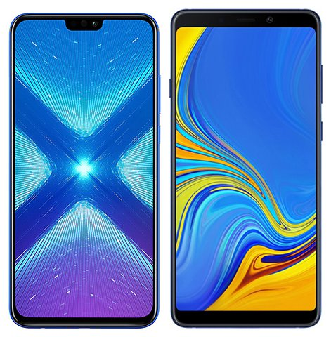 Smartphone Comparison: Honor 8x vs Samsung galaxy a9