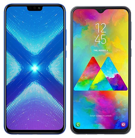 Smartphone Comparison: Honor 8x vs Samsung galaxy m20