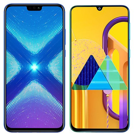 Smartphone Comparison: Honor 8x vs Samsung galaxy m30s
