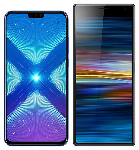 Smartphone Comparison: Honor 8x vs Sony xperia 10 plus