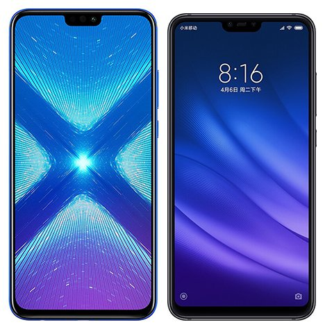 Smartphone Comparison: Honor 8x vs Xiaomi mi 8 lite
