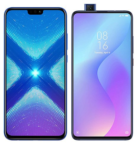 Smartphone Comparison: Honor 8x vs Xiaomi mi 9t