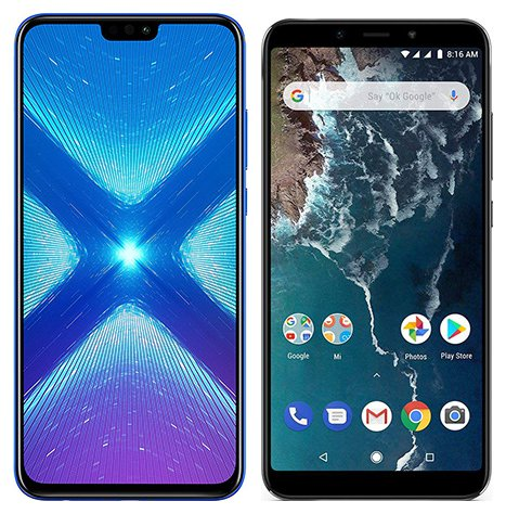 Smartphone Comparison: Honor 8x vs Xiaomi mi a2