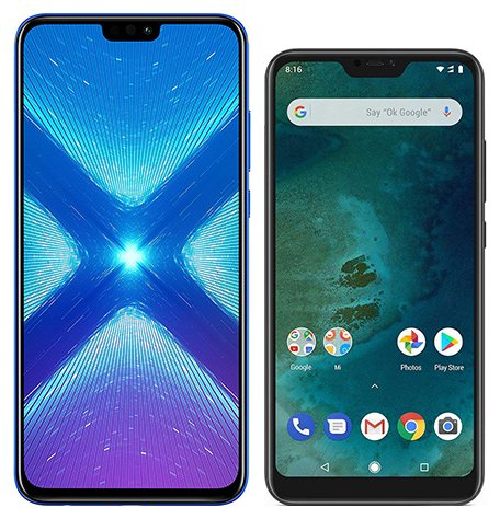 Smartphone Comparison: Honor 8x vs Xiaomi mi a2 lite