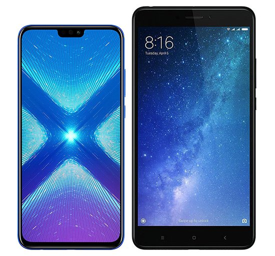 Smartphone Comparison: Honor 8x vs Xiaomi mi max 2