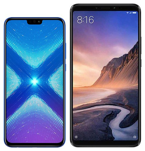 Smartphone Comparison: Honor 8x vs Xiaomi mi max 3