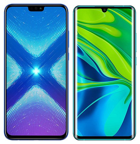 Smartphone Comparison: Honor 8x vs Xiaomi note 10